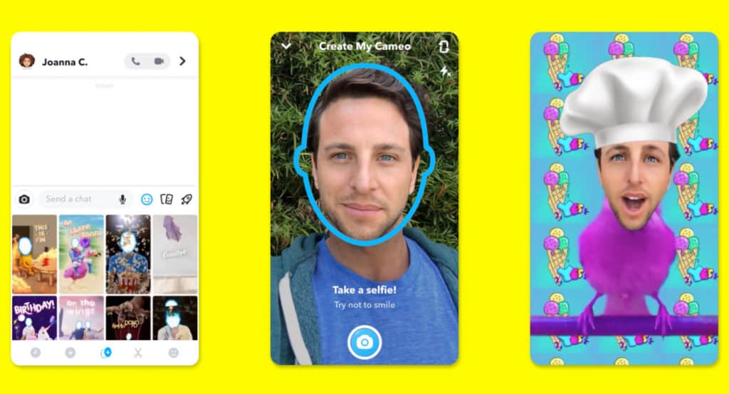Snapchat Cameos feature